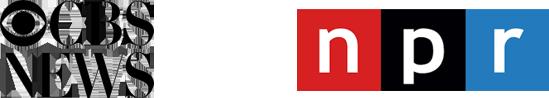 CBS Logo and NPR Logo