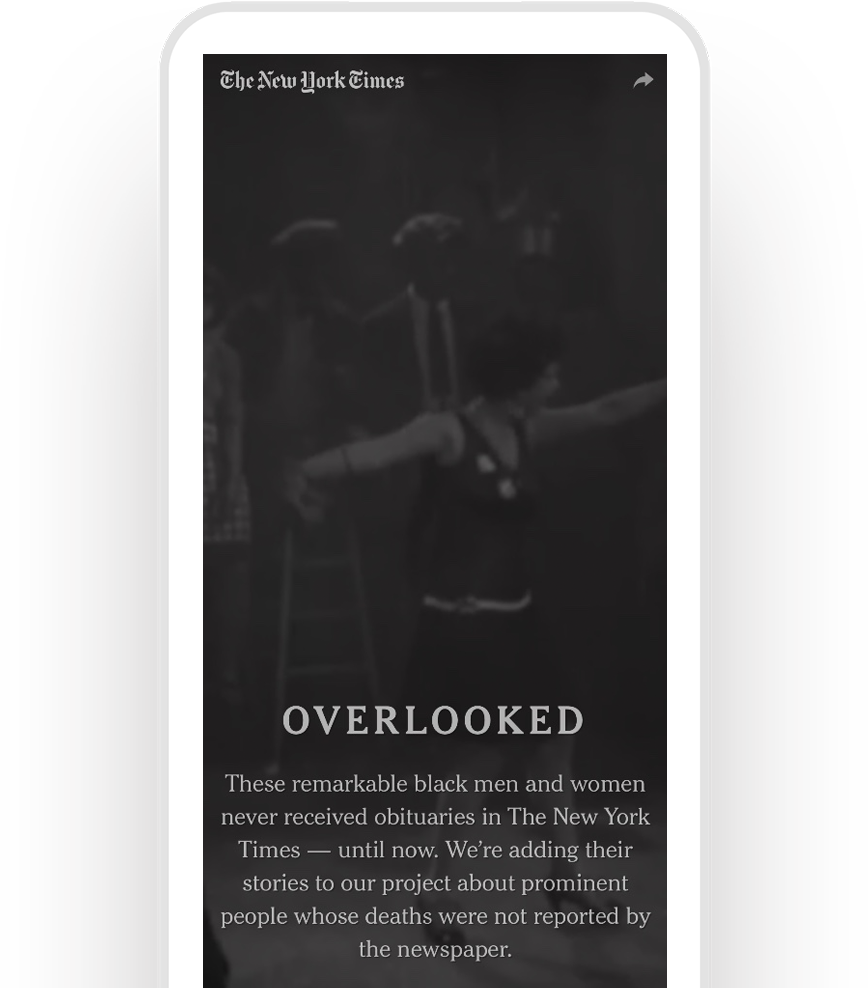 Tanisha C. Ford's article in The New York Times, displayed on a mobile phone